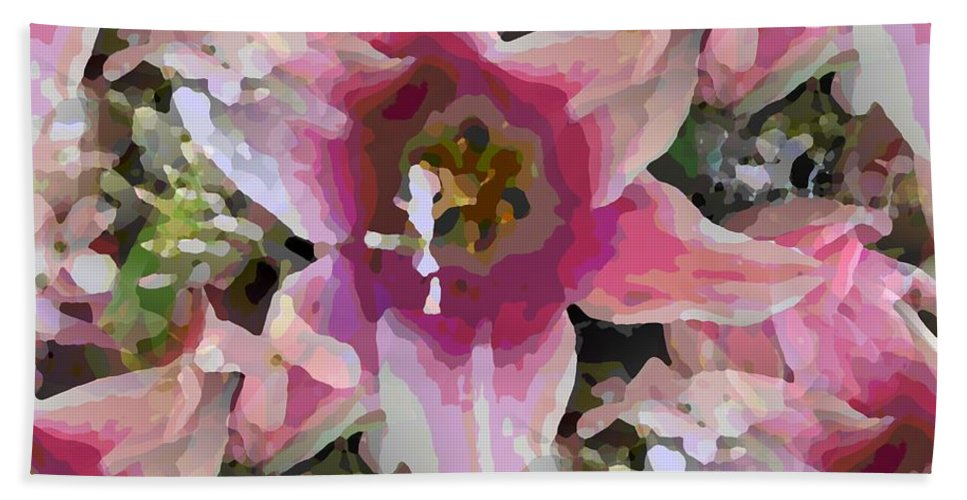 Hand Towel featuring the digital art Blooming Beauty by Tim Allen