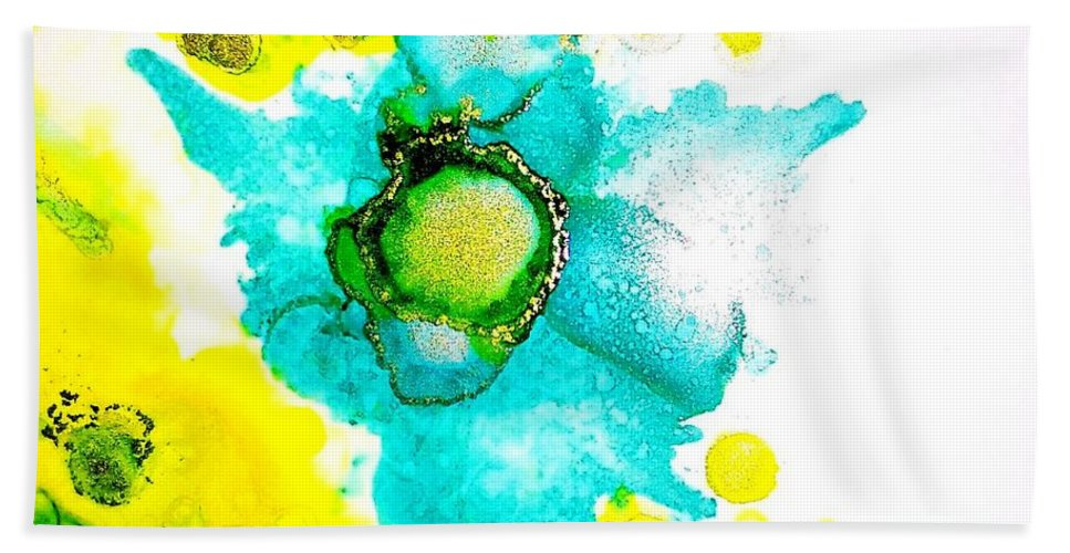 Bath Sheet featuring the painting Blooms by Lisa Marrelli