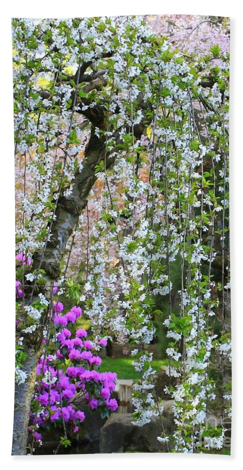 Blossoms Galore Hand Towel featuring the photograph Blossoms Galore by Carol Groenen