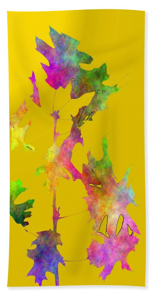 Fall Hand Towel featuring the digital art Blowin In The Wind 5 by Tim Allen