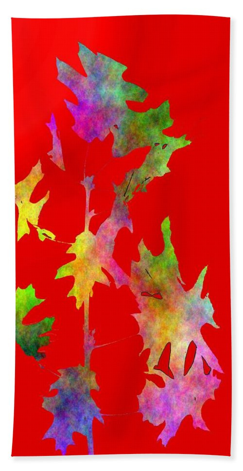 Fall Hand Towel featuring the digital art Blowin In The Wind 6 by Tim Allen