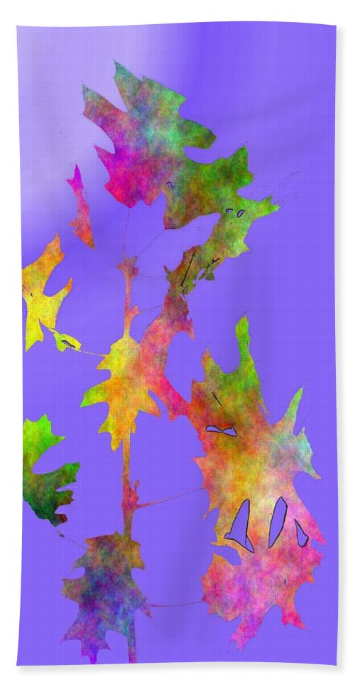 Fall Hand Towel featuring the digital art Blowin In The Wind 7 by Tim Allen