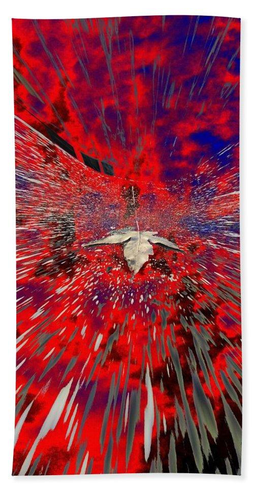 Abstract Bath Sheet featuring the digital art Blowin by Tim Allen