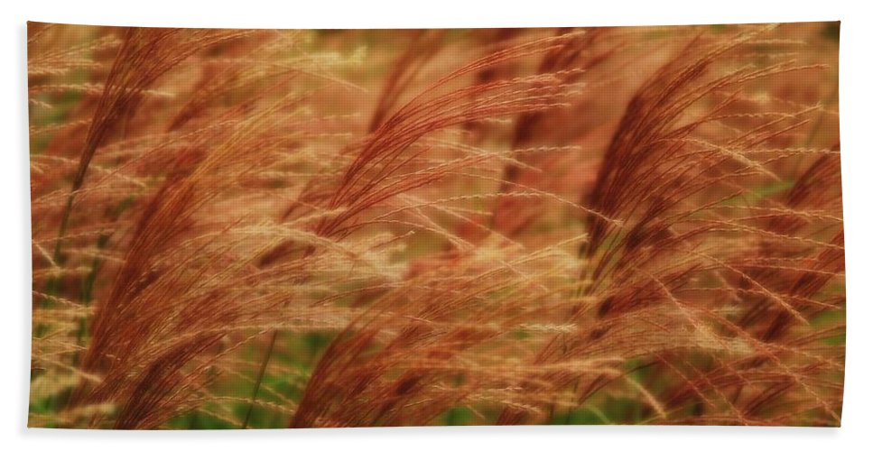 Win Bath Sheet featuring the photograph Blowing In The Wind by Gaby Swanson