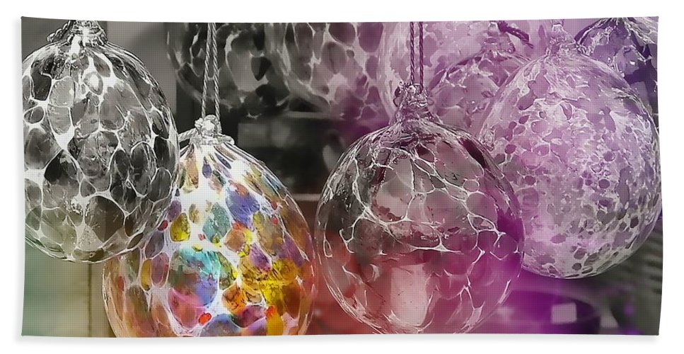 Ornament Bath Sheet featuring the photograph Blown Glass Ornaments by JAMART Photography