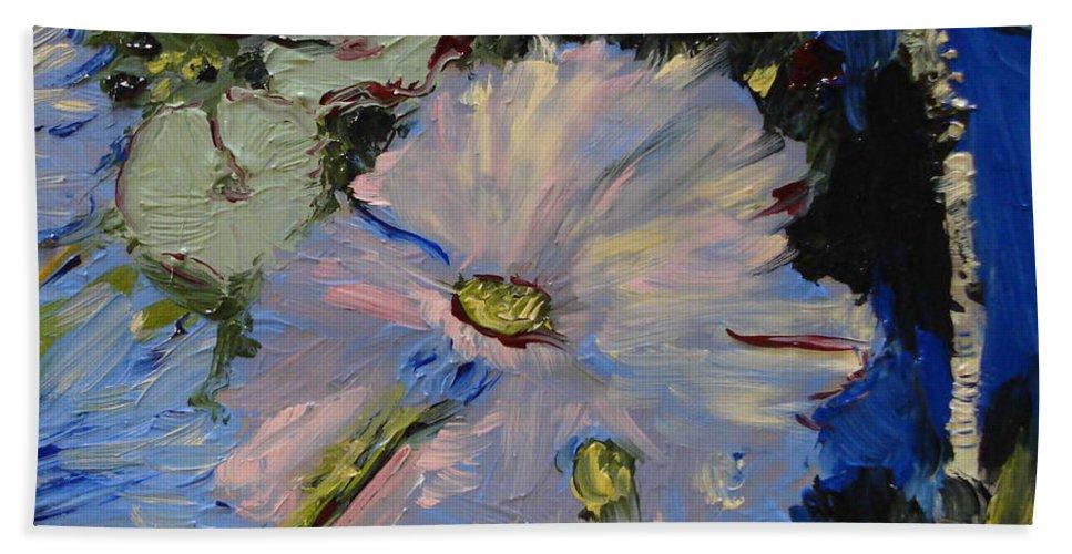 Water Hand Towel featuring the painting Blu II by Barbara Andolsek