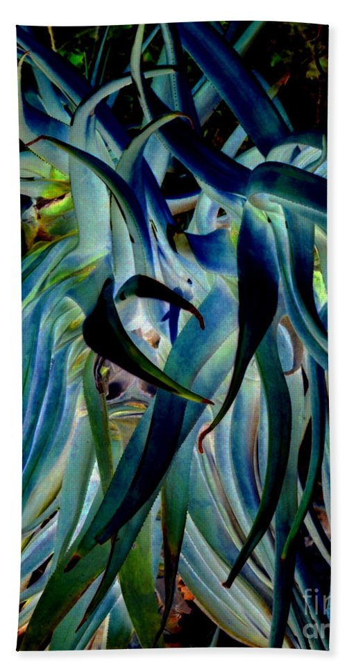 Blue Hand Towel featuring the photograph Blue Abstract Art Lorx by Rebecca Margraf