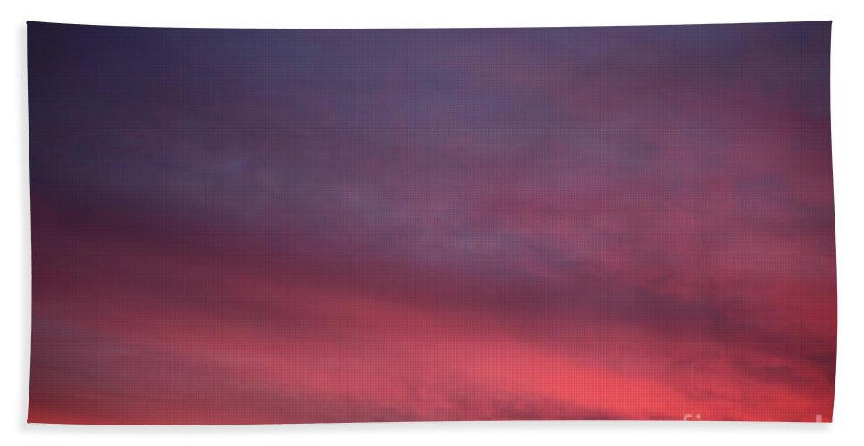 Sunset Bath Towel featuring the photograph Blue And Orange Sunset by Nadine Rippelmeyer