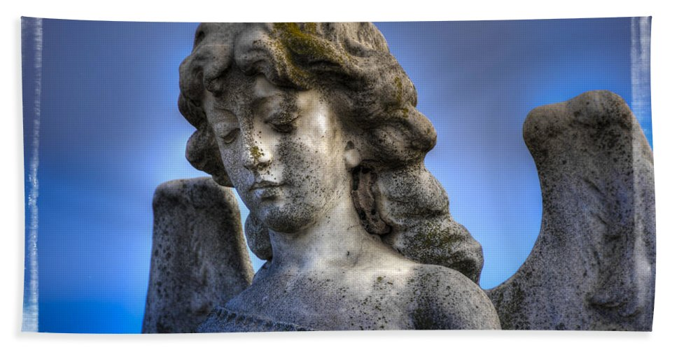 Angel Bath Towel featuring the photograph Blue Angel by Wayne Sherriff