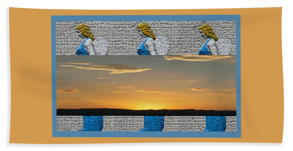 Blue Angels At Sunset Bath Sheet featuring the photograph Blue Angels At Sunset by Shirley Anderson