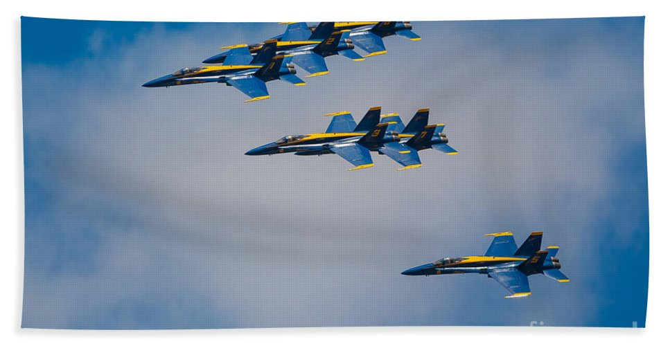 America Bath Towel featuring the photograph Blue Angels by Inge Johnsson