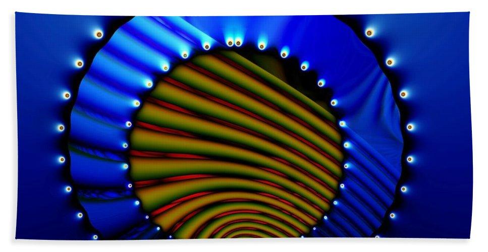 Bale Ringe Bath Sheet featuring the digital art Blue Bale Ringe by Ron Bissett