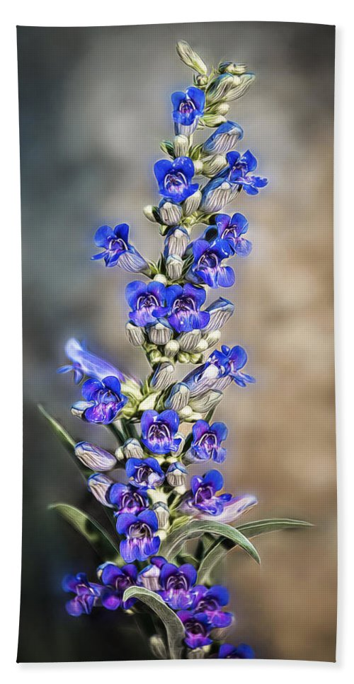 Background Bath Sheet featuring the photograph Blue Bells by Maria Coulson