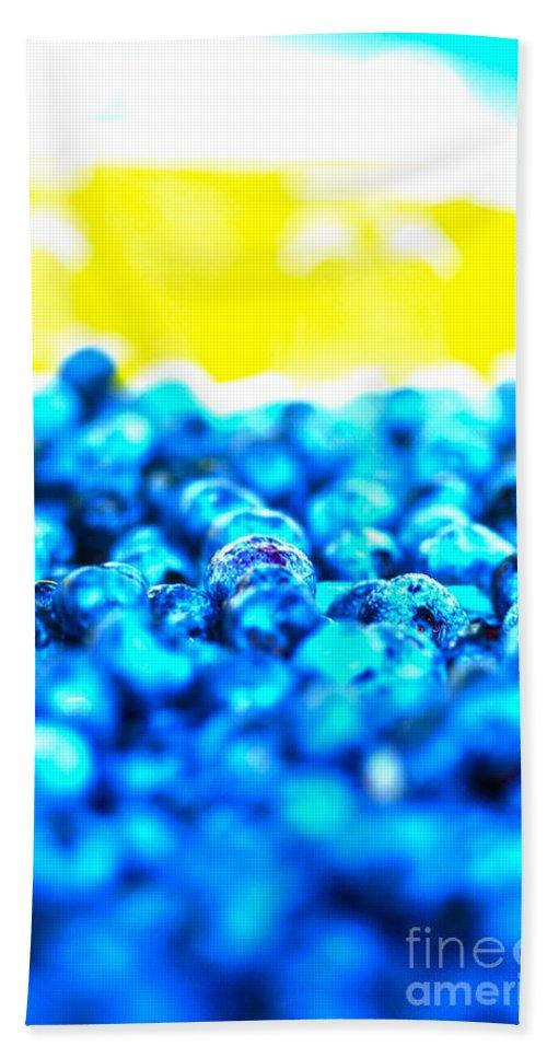 Blue Bath Sheet featuring the photograph Blue Blur by Nadine Rippelmeyer