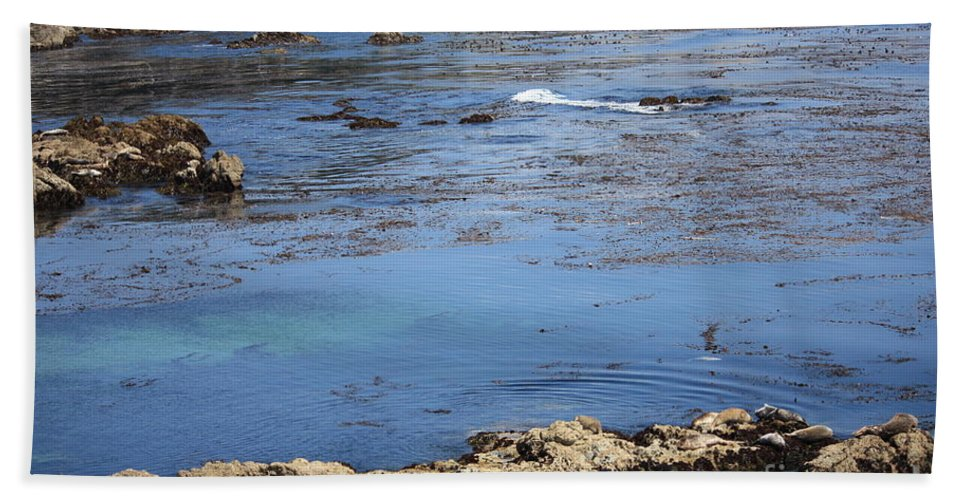 California Bath Towel featuring the photograph Blue California Bay by Carol Groenen