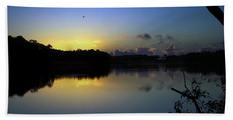 Blue Dawn Bath Sheet featuring the photograph Blue Dawn At Dirickson Creek by Bill Swartwout Fine Art Photography