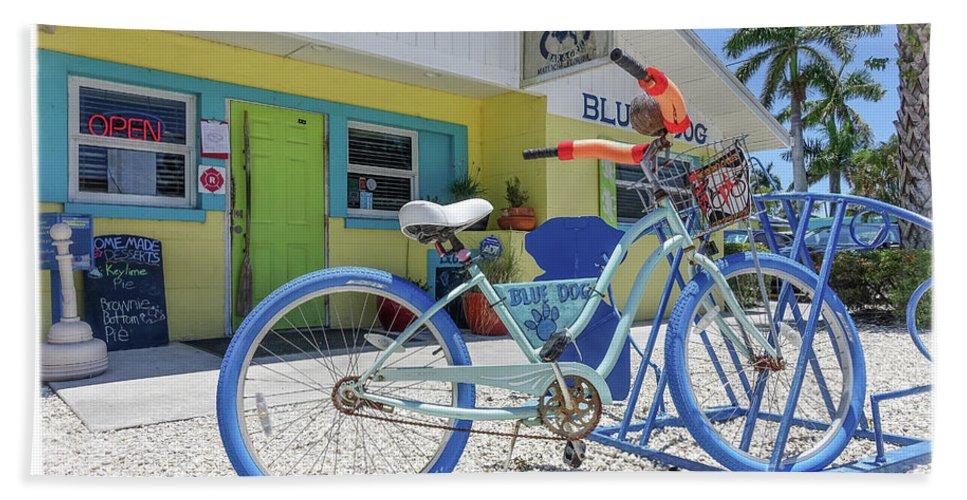 Florida Hand Towel featuring the photograph Blue Dog Matlacha Island Florida by Edward Fielding