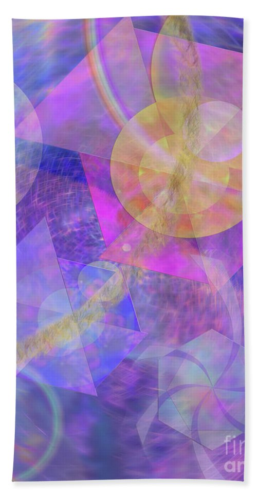 Blue Expectations Hand Towel featuring the digital art Blue Expectations by John Beck