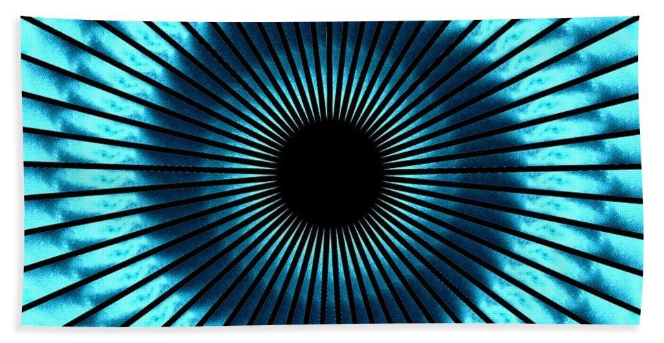 Blue Bath Sheet featuring the digital art Blue Eye by Charleen Treasures