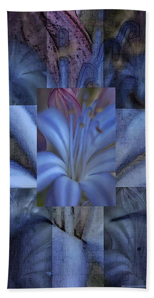 Flowers Hand Towel featuring the photograph Blue Flower by Karen W Meyer