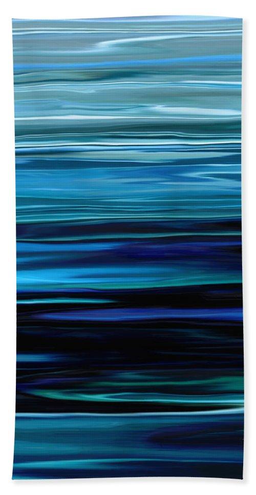 Emerald Hand Towel featuring the digital art Blue Horrizon by Rabi Khan