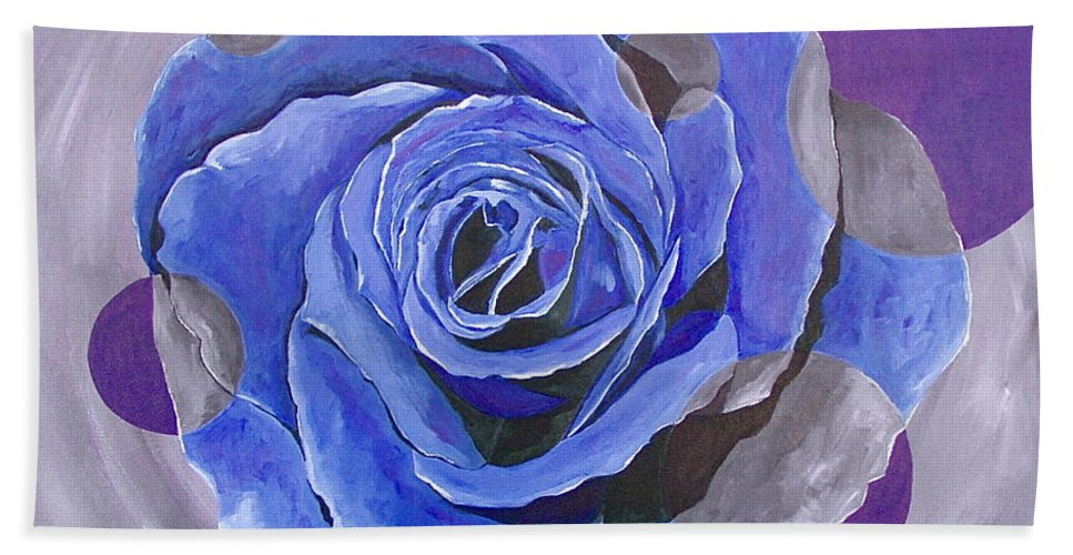 Acrylic Hand Towel featuring the painting Blue Ice by Herschel Fall