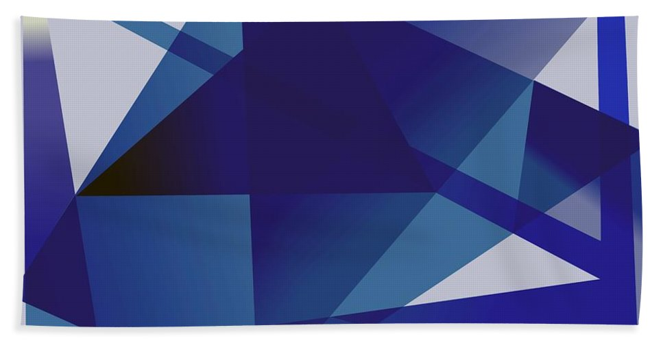 Blue Hand Towel featuring the digital art Blue In Blue by Helmut Rottler