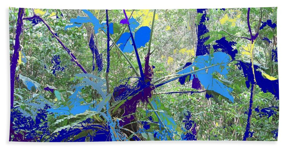 Hand Towel featuring the photograph Blue Jungle by Ian MacDonald