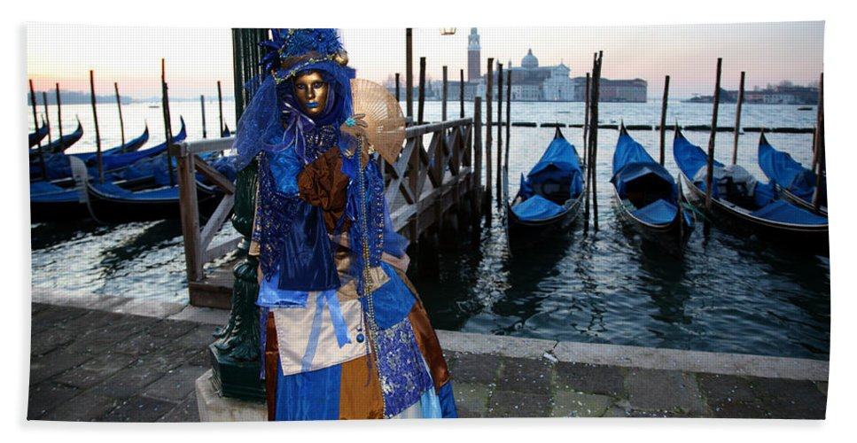 Venice Bath Sheet featuring the photograph Blue Lips At Sunrise by Donna Corless