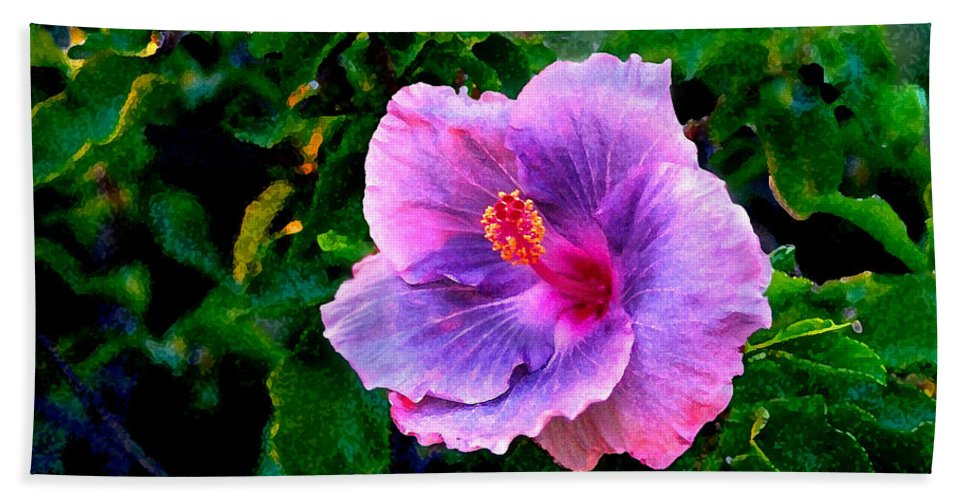 Flower Hand Towel featuring the photograph Blue Moon Hibiscus by Steve Karol