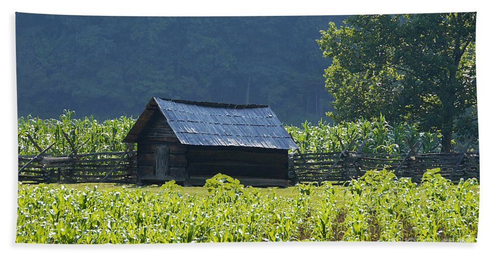Farm Bath Sheet featuring the photograph Blue Mountain Farm by David Lee Thompson