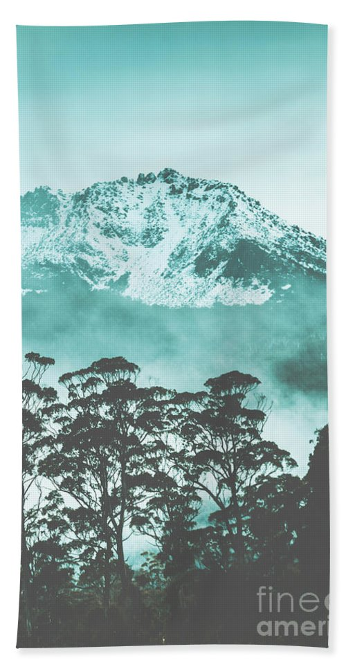 Blue Bath Towel featuring the photograph Blue Mountain Winter Landscape by Jorgo Photography - Wall Art Gallery