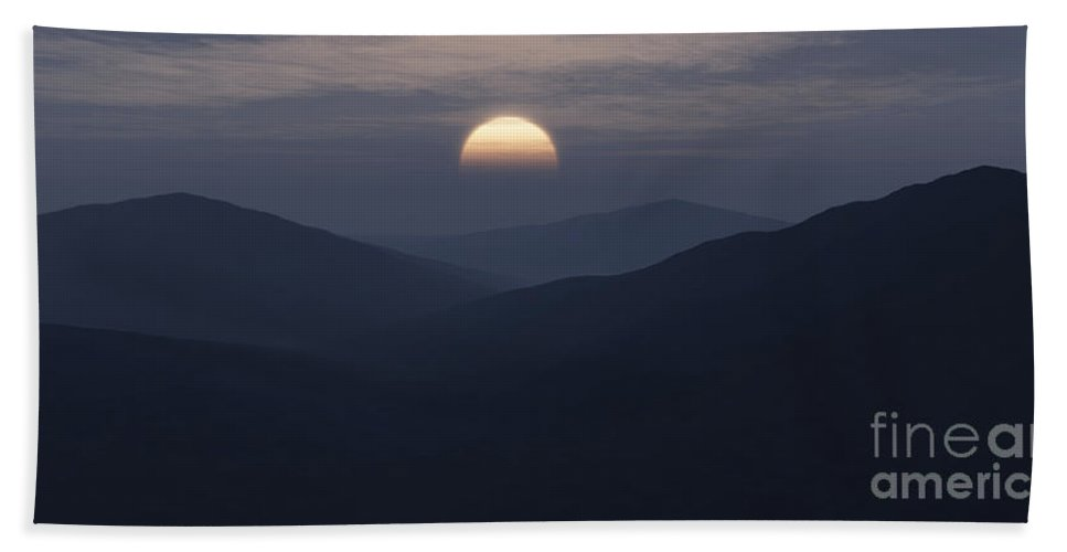 Mountains Bath Sheet featuring the digital art Blue Mountains by Richard Rizzo