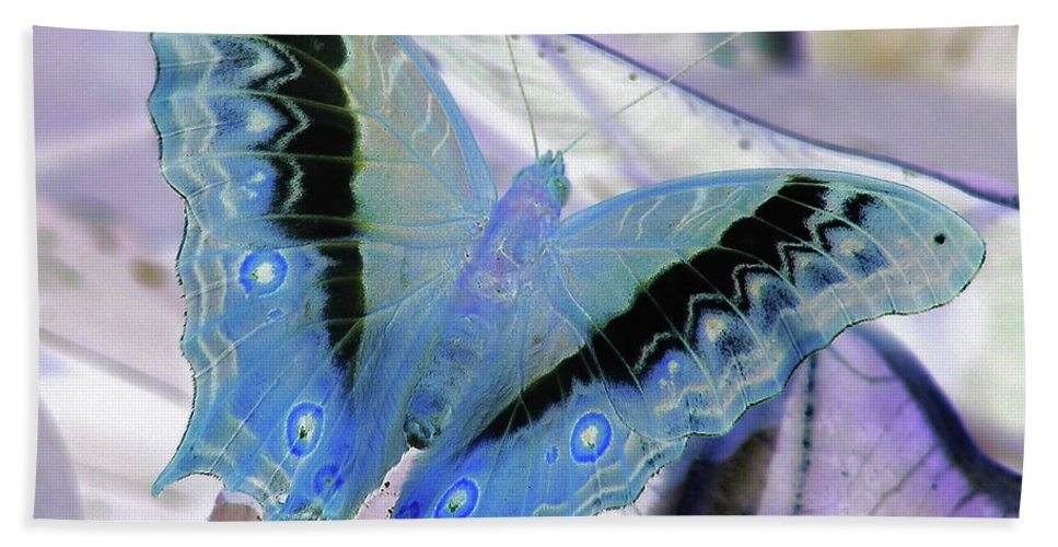 Butterfly Bath Sheet featuring the photograph Blue Negative by JAMART Photography