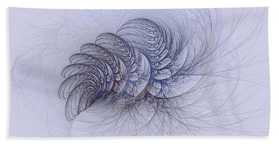 Bath Sheet featuring the digital art Blue Pagliai Ferns by Doug Morgan
