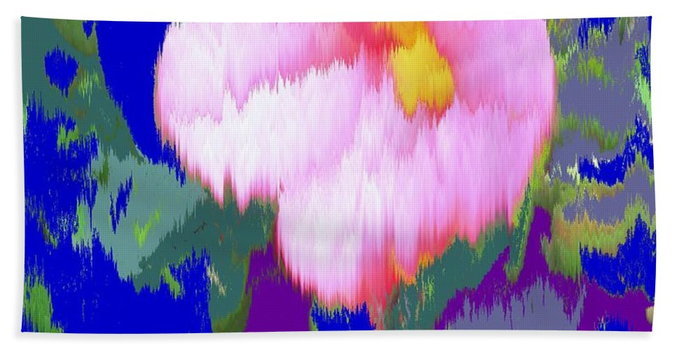 Flower Hand Towel featuring the photograph Blue Pink by Ian MacDonald