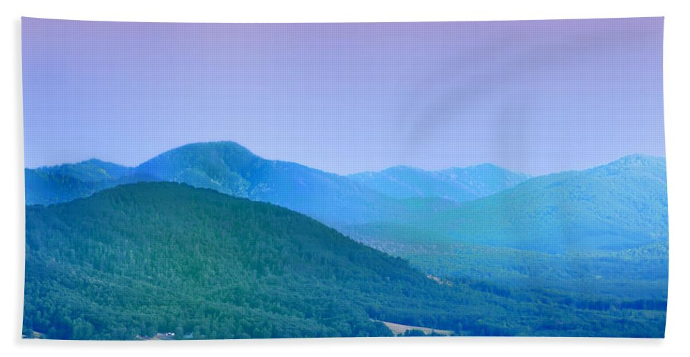Mountains Hand Towel featuring the photograph Blue Ridge Mountains by Bill Cannon