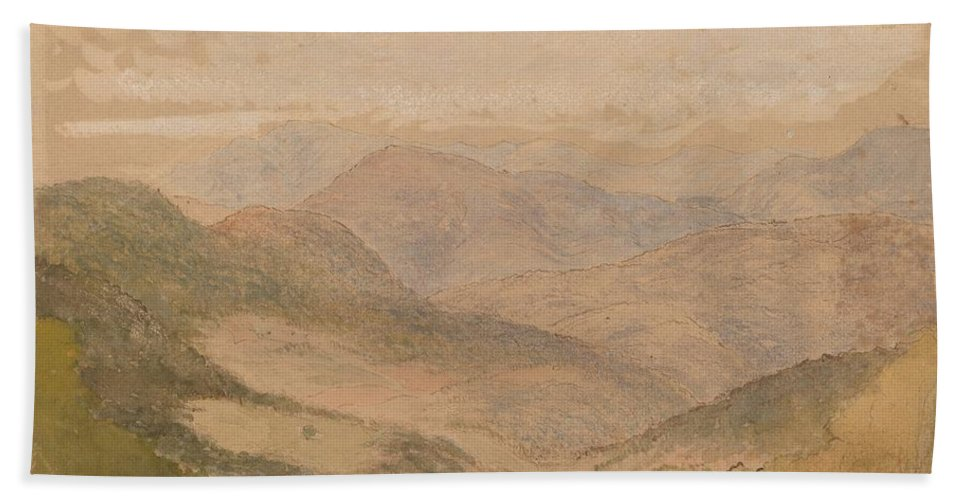 Hand Towel featuring the drawing Blue Ridge Mountains by Stanford White