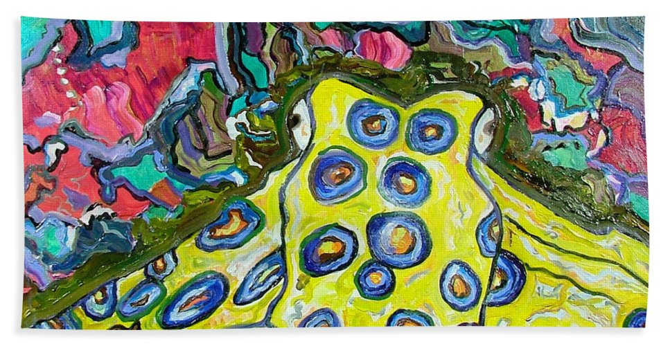 Octopus Bath Sheet featuring the painting Blue Ringed Octopus by Heather Lennox