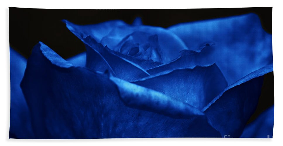 Clay Hand Towel featuring the photograph Blue Rose by Clayton Bruster
