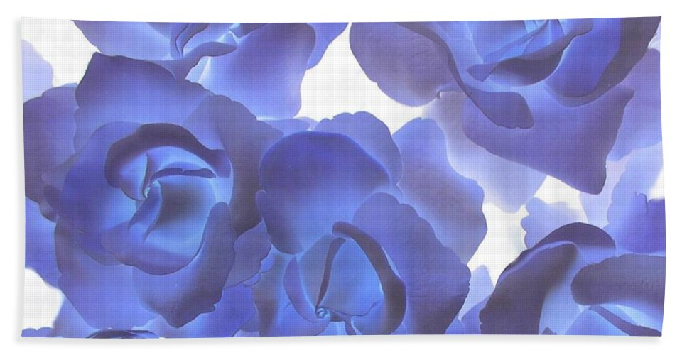 Blue Bath Sheet featuring the photograph Blue Roses by Tom Reynen