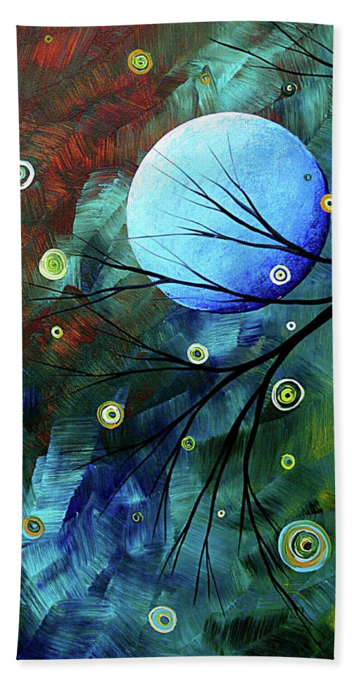 Art Bath Towel featuring the painting Blue Sapphire 1 By Madart by Megan Duncanson