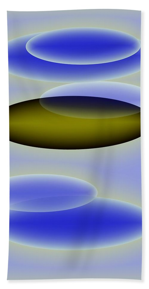 Blue. Shapes Bath Towel featuring the digital art Blue Shapes by Helmut Rottler