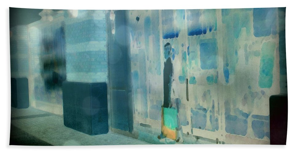 Post Processed Bath Sheet featuring the photograph Blue Shopper by Paulette B Wright