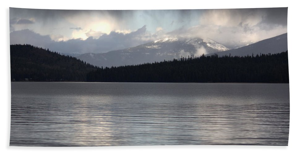 Clouds Hand Towel featuring the photograph Blue Sky Through Dark Clouds by Carol Groenen