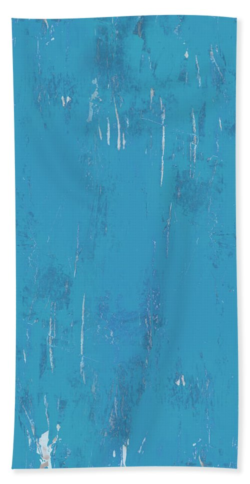 Abstract Hand Towel featuring the painting Blue Sky by Tonya Doughty