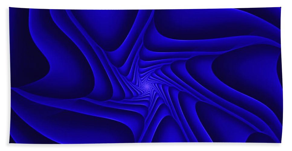 Digital Painting Bath Sheet featuring the digital art Blue Slide by David Lane