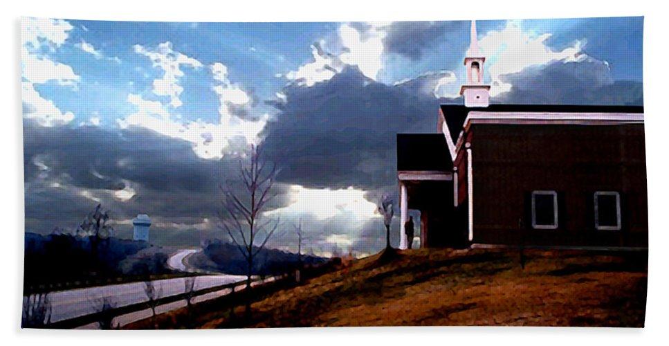 Landscape Bath Sheet featuring the photograph Blue Springs Landscape by Steve Karol