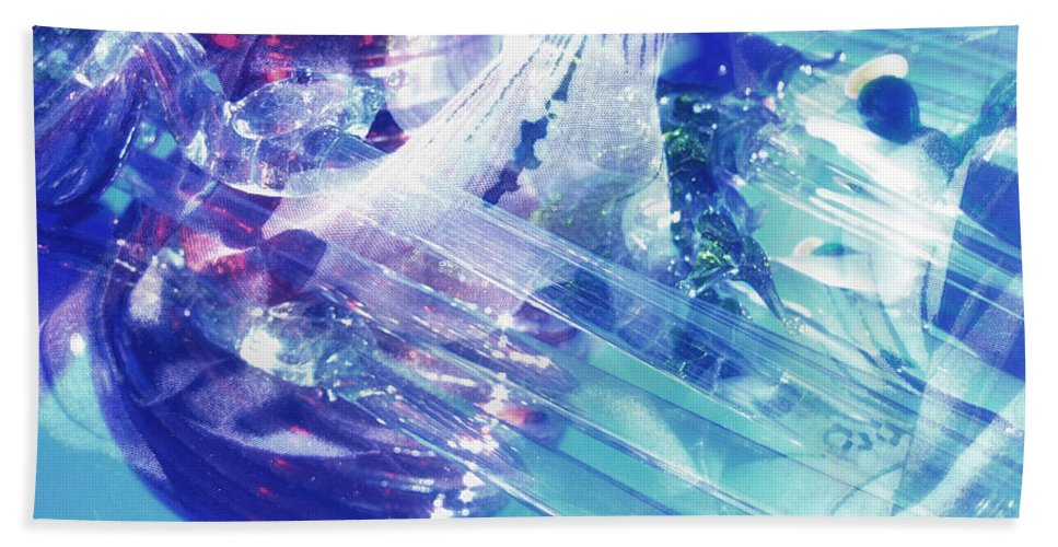 Glass Bath Sheet featuring the photograph Blue Storm by Donna Blackhall