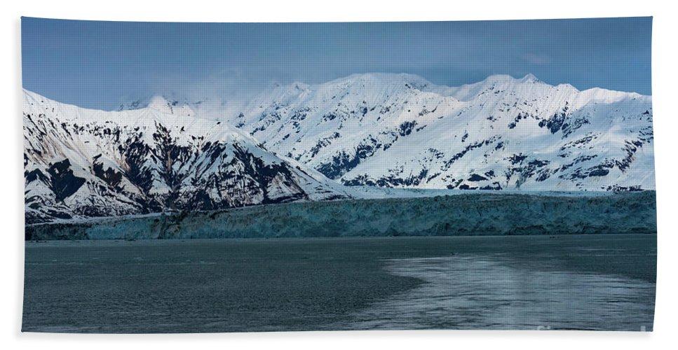 Glacier Bath Sheet featuring the photograph Blue Tidewater Glacier by Joe Benning